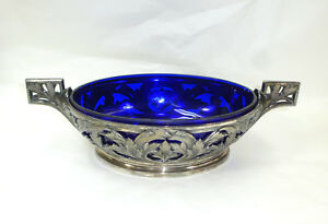 Art Nouveau Bowl with Glass Insert France um 1900 Argit