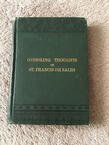 Antique Catholic Book Consoling Thoughts of St. Francis de Sales Pere Huguet