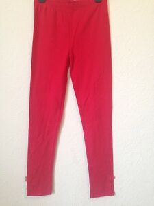 TU-12-Years-Red-Leggings-With-Floral-Detail-At-Bottom-lt-BC469