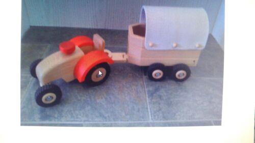Fahrzeuge Ostheimer Traktor 5560040 Ostheimer Pferdehänger 5550836 mit roten Filz