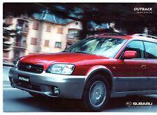 Subaru Legacy Outback H6 3.0 2000-01 UK Market Foldout Sales Brochure