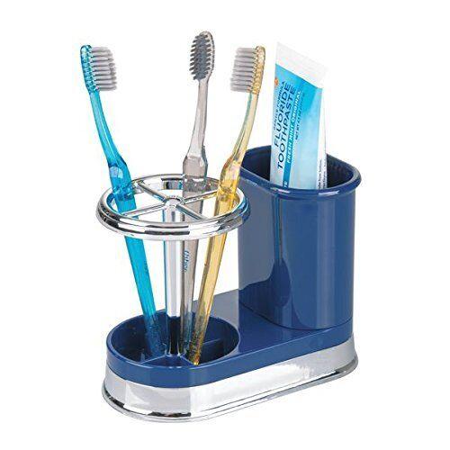 Elegant Toothbrush Toothpaste Holder Organizer Set for Bathroom Storage Box