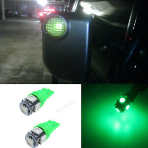 2pcs Green 5smd Side Mirror Lights Led Bulbs For Toyota Fj