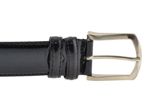 Cintura in vernice elegante classica nero uomo donna per abito da cerimonia