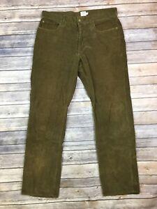 J-Crew-Men-039-s-34-Vintage-Slim-Straight-Leg-Brown-Corduroy-Casual-Pants