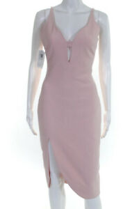 Elizabeth-and-James-Womens-Sweetheart-V-Neck-Sleeveless-Sheath-Dress-Pink-Size-6
