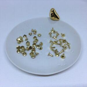 100 kegelnieten tachuelas remaches decorativos krallennieten 9,5 mm de oro mercancía nueva inoxidable