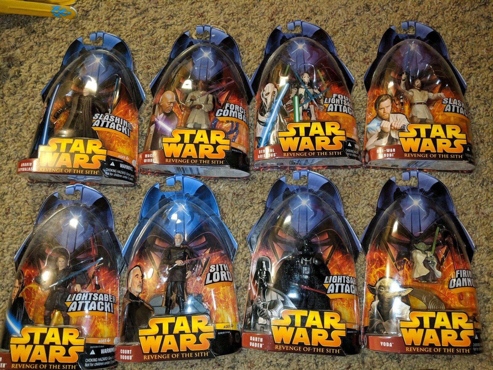 nouveau Star Wars  Figure Lot Revenge Of The Sith Collection,2005  meilleure vente