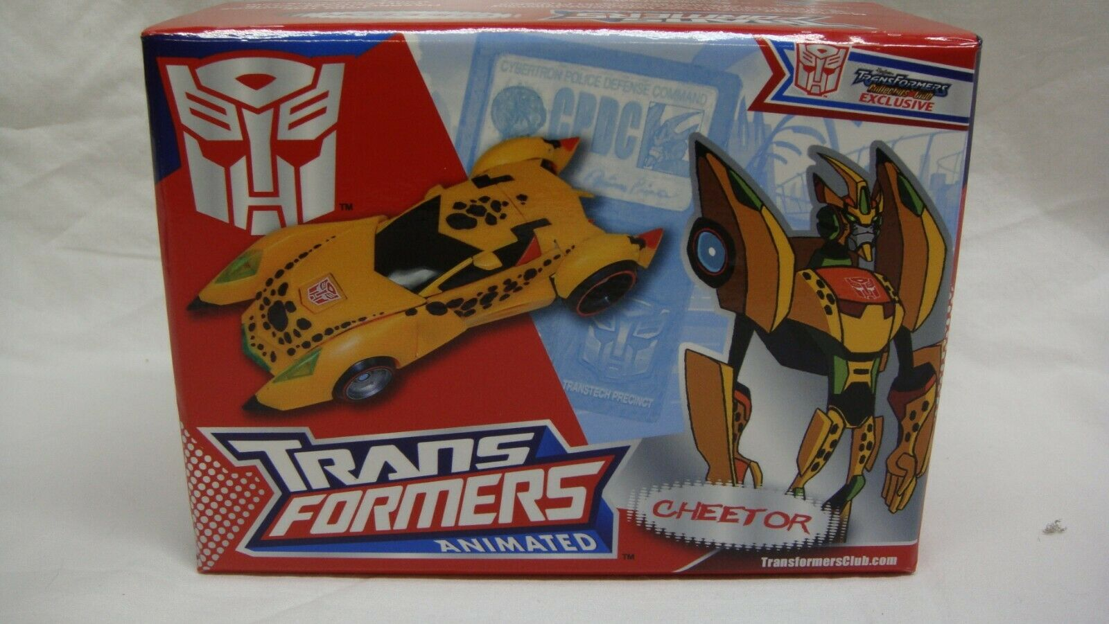 TRANSFORMERS TFCC EXCLUSIVE ANIMATED CHEETOR 2011 NEW MINT IN BOX