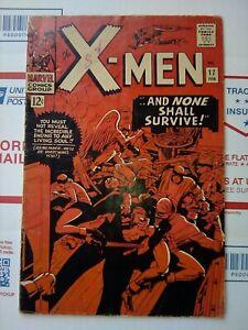 X-men-17-1966-NONE-SHALL-SURVIVE-NICE-Marvel-Comic-xmen-x-men-17-FEB-1966