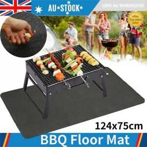 Outdoor BBQ//Fire Retardant//Mat Fireproof Heat Resistant Rug Protect Floor Deck