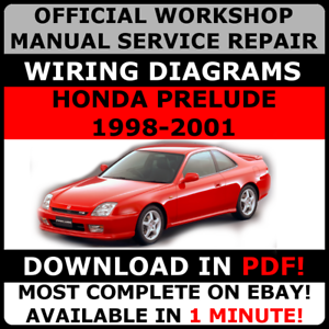 official workshop service repair manual honda prelude 1996 2001 rh ebay co uk 1996 Honda Accord 1992 Honda Prelude
