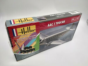Avion-Toucan-AAC-1Maquette-a-monter-Heller-France-echelle-1-72-colle-peintures