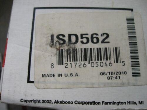 NEW AKEBONO FRONT BRAKE PAD SET PN ISD 562