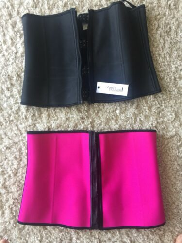 2 Waist Trainers. Tried On But Not Worn. Size 16. Black And Pink