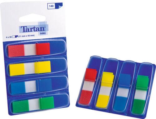 11x43 mm gelb blau grün rot Haftstreifen Index Mini 4 x 35 Streifen iSp...