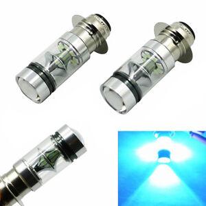 Pair 100W 8000K LED Headlight Bulb H6M For Yamaha Raptor 700 700R 2006-2018 USA