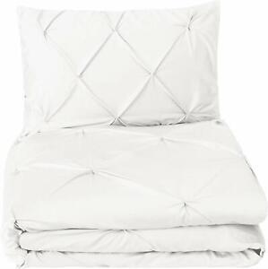 Pinzon-Pinch-Pleat-Duvet-Cover-Set-Size-Twin-Color-White-Retail-Box-Damage