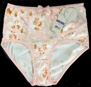PARFAIT-Charlotte-6917-High-Waist-Brief-Satin-Panty-S-4X-NEW-Blossom-Print