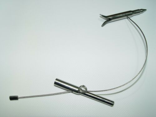 """Slip Tip 7 mm Threading Stainless steel 5/"""" with steel cable speargun"""