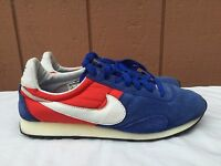 EUC MENS NIKE PRE MONTRAL RACER 476717 400 US SZ 8 RUNNING SHOES BLUE RED WHITE