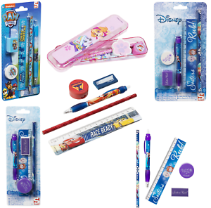 Kids PAWPatrol 5 Piece Stationery Set Pencil,Pen Frozen,Cars3 School Set Gift 3+