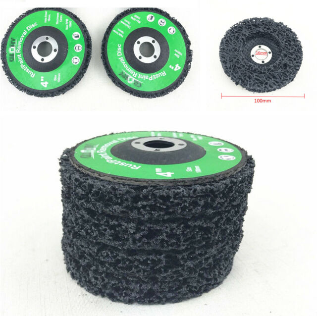 4pcs Grinder Wheels Disc Car Paint Rust Removal Clean Polishing 46Grit New