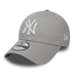 Cappellino-Visiera-Curva-New-Era-New-York-Yankees-Grigio-Grey-Uomo-Donna-Unisex