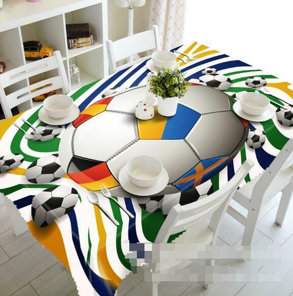3D Footballs 142 Tablecloth Table Cover Cloth Birthday Party Event AJ WALLPAPER