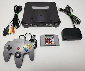 Nintendo 64 N64 Console Bundle - OEM Controller & Cables + Starfox 64