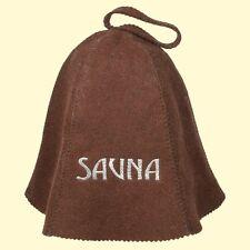 Cappuccio di feltro Sauna MARRONE Cappello Berretto da