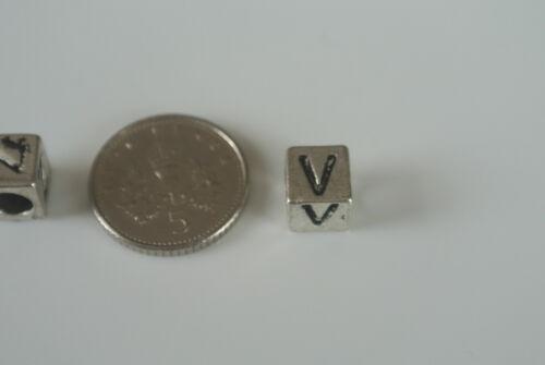 Tibet Silver Alphabet Beads for European Charm Bracelets