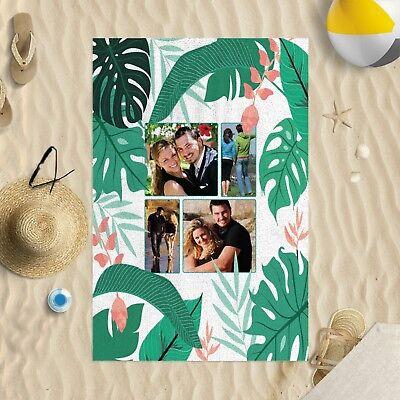 Badzubehör & -textilien Möbel & Wohnen 147cmx99.1cm Personalisiertes Foto Tropische Blatt Mikrofaser Strandtuch Sonne