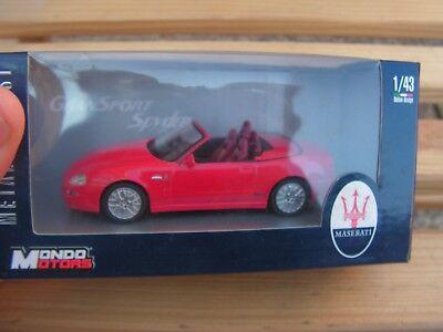 Bene Voiture 1/43 Maserati Spyder Mondo Motor Serie 15 Smoothing Circulation And Stopping Pains