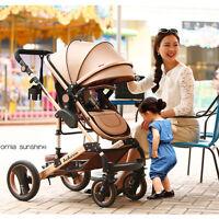 Newborn Carriage Baby Stroller Infant Travel Landscape Folded Pushchair Pram