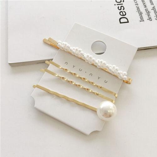 Women Girl Fashion Pearl Hair Clips Set Barrette Hairpin Decor Hair Accessories