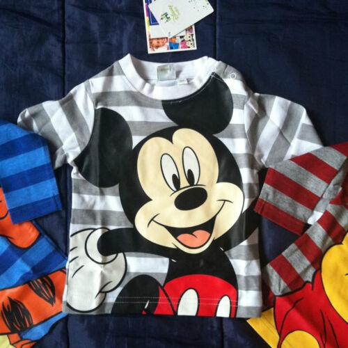 Baby Boys Mickey Mouse Winne the Pooh Tigger Long Sleeve TShirt Tee Top Stripe
