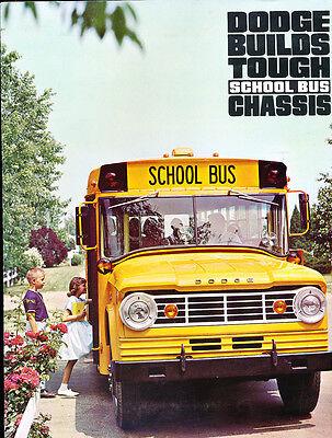 1966 1967 Dodge School Bus Original Sales Brochure Catalog - Truck