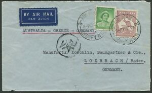 Aerophilately-21-Sept-1938-airmail-cover-Sydney-to-GERMANY-franked-2-1-endorsed