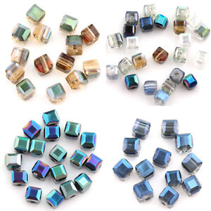 Lots 50//100Pcs Faceted Glass Crystal Teardrop Charms Spacer Beads 6x4mm 8x6mm