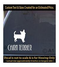 Cairn terrier dog 6 inch decal pet lover man best friend car laptop more swp1_48