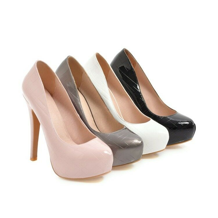 chaussures en cuir synthétique - plate - forme forme forme club nous taille s984 talons pompes 3e0287