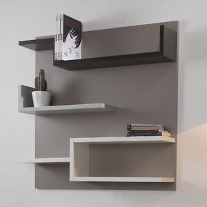 Libreria moderna con schienale myshelf mensole cameretta sala soggiorno ebay - Mensole in vetro per soggiorno ...