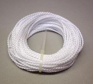 10 Mètres Corde Pp (hauban) Ø 2,5 Mm, Blanc (m9052)