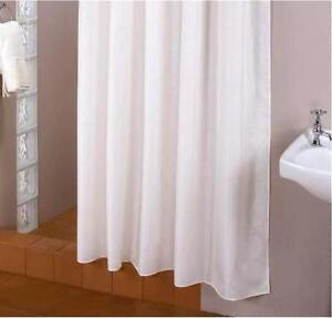 TEXTILE Rideau de douche blanc 240 large x 200 Haut incl. anneaux ...