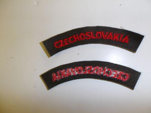 b5574 WW 2 British Army Czechoslovakia Tab Free Czech Army Battle no board C10A4