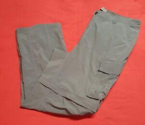 4353126363 EUC REI Men's Gray Nylon Convertible Camping Hiking Cargo Pants XXL ...
