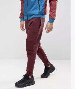 c8926733eb3c64 Men s Nike Sportswear Tech Fleece Jogger Pants Maroon Black Size S ...