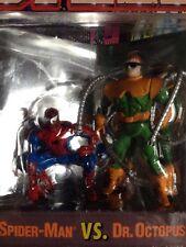 Spiderman Web Of Steel Diecast Metal Poseable Figures Spider Man VS Dr Octopus
