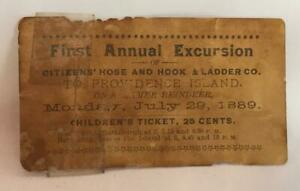 1889-Citizen-039-s-Hose-And-Hook-And-Ladder-First-Annual-Excursion-Ticket